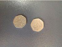 Rare collectable 50 p coins