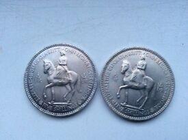 2 Queen Elizabeth II Coronation Commemorative Coins