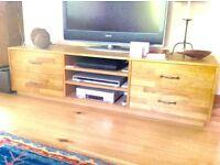 TV Bench in pine wood