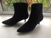 M&S Black suede ankle boots size 7
