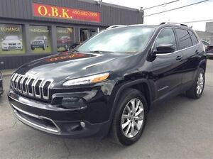 2014 Jeep Cherokee 4WD-LIMITED-V6-3.2L-NAVIGATION-CUIR-TOIT PANO