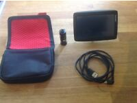 TomTom sat nav, with case, lead, car charger and free lifetime updates