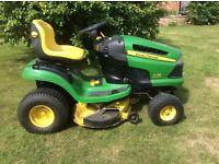 """John Deere X120 ride on mower. 42"""" cut for sale."""