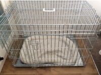 "Two dog crates 30"" and 24"""