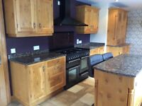 Stunning solid Pippy Oak Framed Kitchen with Island