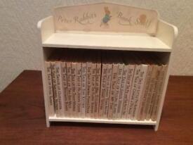Peter Rabbits book shelf