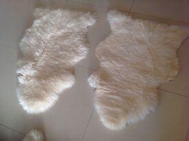 2 sheepskin rugs