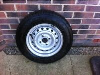 Bargain !! Brand new 13in caravan spare wheel that's never been used
