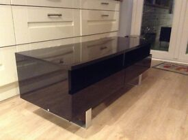 Tv stand black gloss