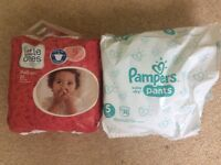 Pampers and Sainsburys pull up nappies