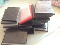 DVD empty cases - used - x 45