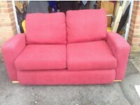 Two Seater Sofa Bed - Dark Red