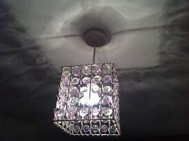 2x beaded pendant lampshades