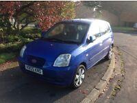 NOW SOLD KIA Picanto LX one litre 2005, manual 5 door metallic blue
