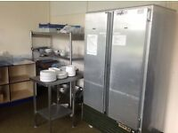 Large amount of used kitchens /cookers/sinks/trestles stainless steel from a lge commercial kitchen