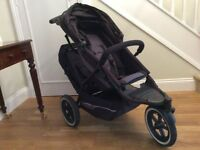 Phil & Teds Explorer Double Buggy, Cocoon Baby Carrycot, Sleeping Bag, Rain & Sun Covers, Footmuff