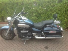 Triumph Rocket 111 Touring in two tone blue