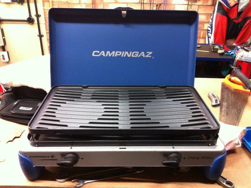 Campingaz twin burner none stick cooker New