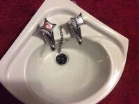 Corner Bathroom Basin Sink with taps