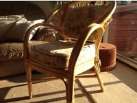 STRONG WICKER CHAIR IDEAL FOR CONSERVATORY PATIOS