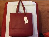 Brand new with tags RED RADLEY RED LEATHER handbag