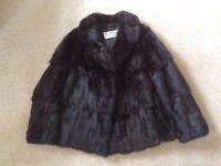 Fur Coat. Hardly worn. £50. Size 14.
