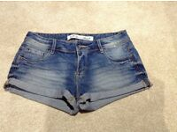 New Blue Denim Shorts - Size 8 - Brand New Without Tags