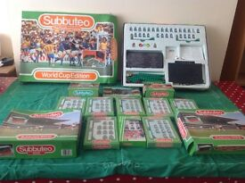 Subbuteo job lot - Italia 1990 World Cup addition plus 8 teams plus stands and goals