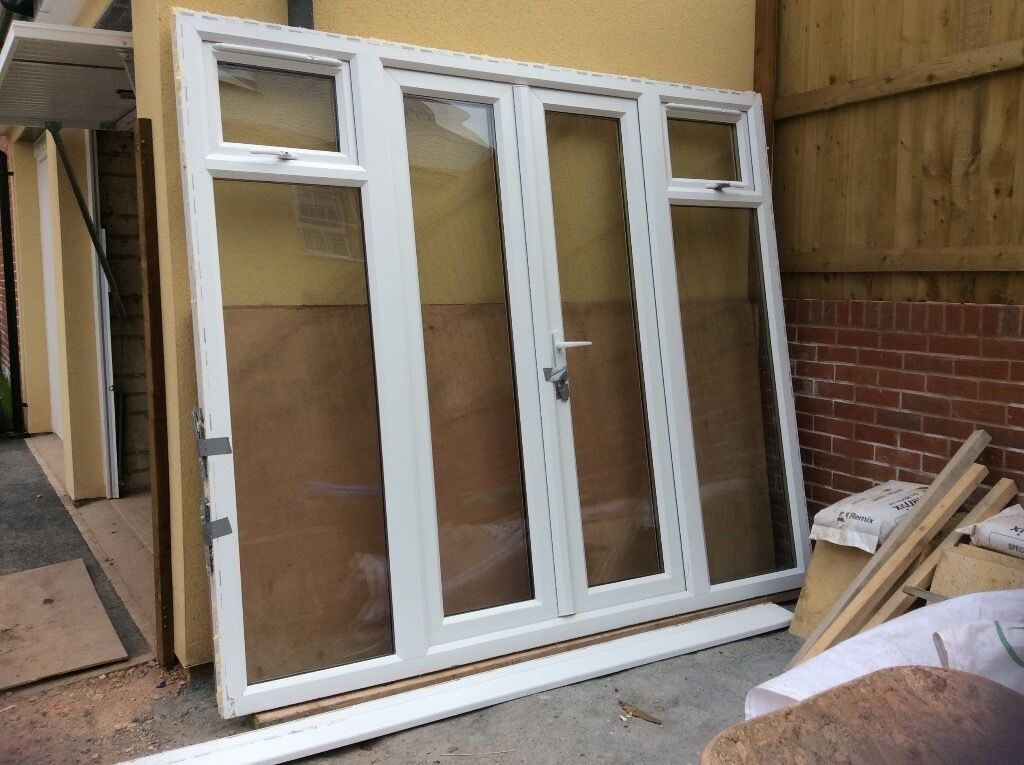 PatioFrench doors white upvc double glazed nearly newin Broadclyst, DevonGumtree - Very good condition double glazed white upvc Only 6 months old 2.4 m wide 2.1m high With door keys and window key. Have side fixings and sill Buyer must collect