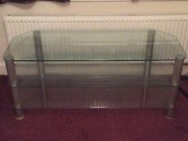 TV Stand Large - Clear Glass
