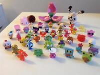X35 Moshimonsters With Flower house and giant figure SWAP SHOP for x35 Pokémon cards