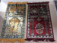 2 x Silk Iranian Prayer Mats