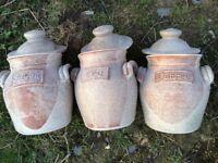 Ballydougan pottery coffee,sugar and tea jars