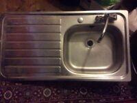 Stainless steel kitchen sink (single)