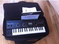 MicroKorg XL+ microphone and gator gig bag