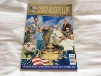 RYDER CUP GOLF 2001 OFFICIAL PROGRAMME