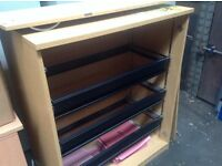 Light wood 2 door Suspension filing cabinet.