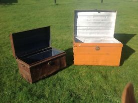 METAL TRUNKS X 2 1 small and 1 large