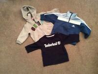 Tops and jackets age 9,12, and18 months
