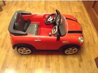 Kids electric Mini Cooper s with working head lights