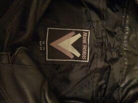 Frank Thomas leather motorbike trousers