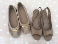 Next Shoes, two pairs, Next, Size 39, Fawn/Brown