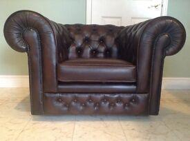 Leather Chesterfield Club Chair by Thomas Lloyd