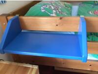 Blue clip on shelf for bunk/cabin bed - good condition - only £15!