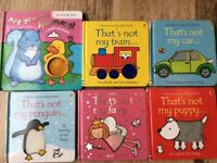 Baby books x 6 items all in good condition.