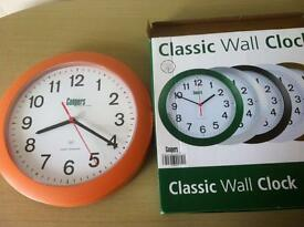 Coopers classic wall clock as new in box