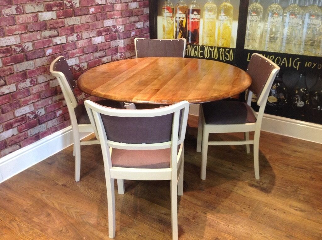 Upcycled dining table and 4 chairs can deliver locally for Upcycled dining table