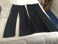 LADIES BLACK TROUSERS x 2 Pairs