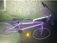 Matte purple BMX retail price 195 or can swap for jump bike