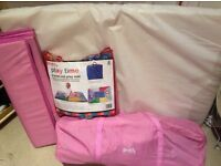 Red Kite Travel Cot with Matress & Playmat